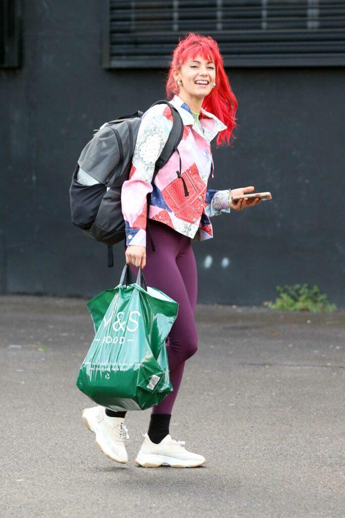Dianne Buswell in a Purple Leggings