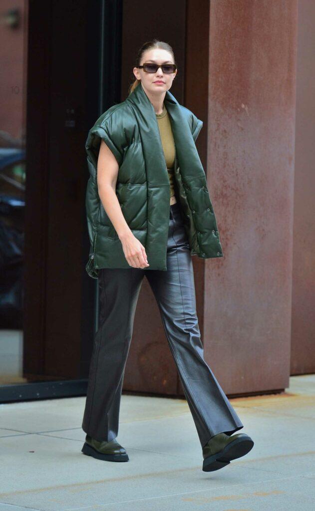 Gigi Hadid in a Black Pants