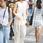 Gigi Hadid in a White Suit Was Seen Out in New York