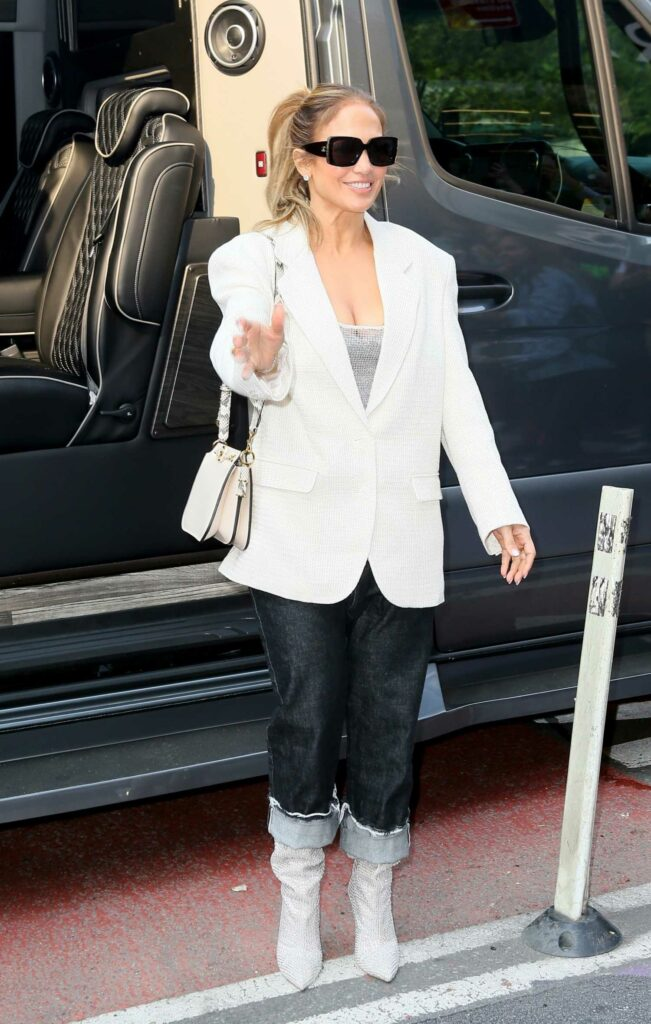Jennifer Lopez in a White Blazer
