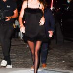 Kendall Jenner in a Black Mini Dress Was Seen Out in New York