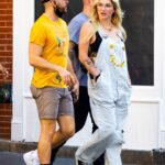 Kesha in a Striped Jumpsuit Was Seen Out in SoHo in New York