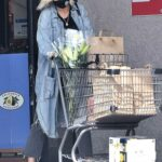 Malin Akerman in a Black Protective Mask Goes Grocery Shopping Done in Los Feliz