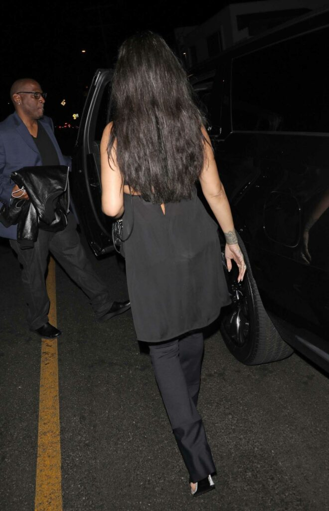 Rihanna in a Black Outfit