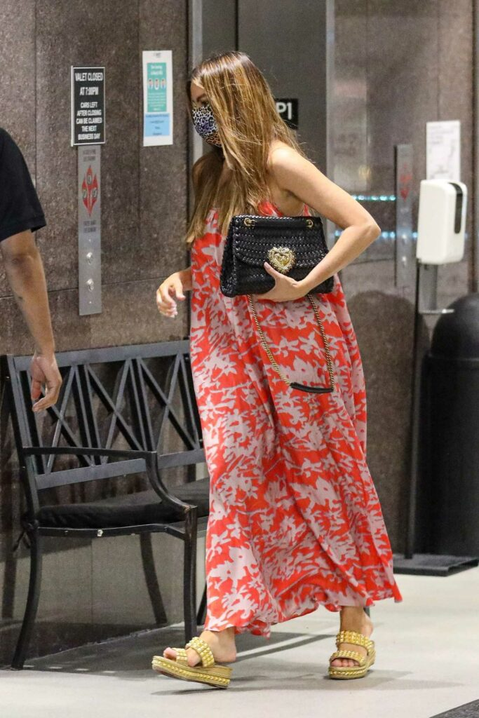 Sofia Vergara in a Red Floral Dress