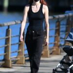 Sophie Turner in a Black Tank Top Was Seen Out in New York