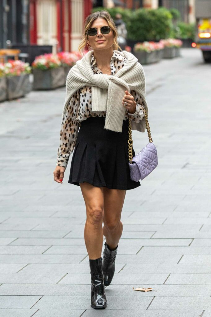 Zoe Hardman in a Black Mini Skirt