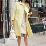 Amal Alamuddin in a Yellow Coat Was Seen Out in Washington