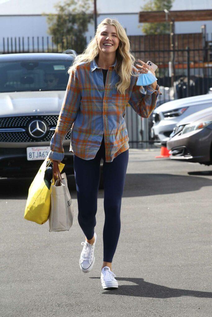 Amanda Kloots in a Plaid Shirt