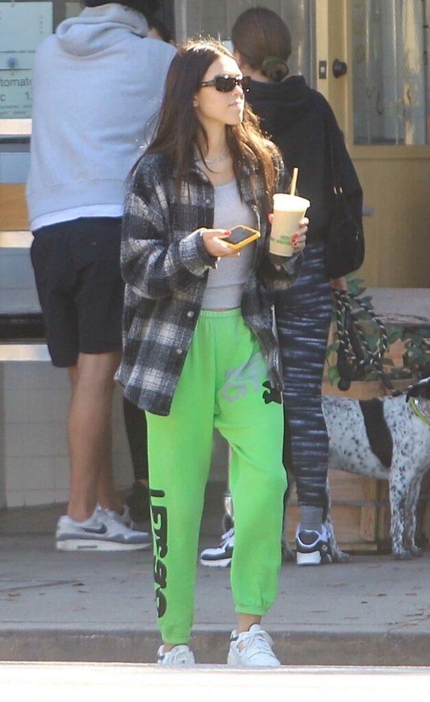 Amelia Gray Hamlin in a Green Sweatpants