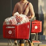 April Love Geary in a Tan Sweater Goes Shopping at Target in Woodland Hills