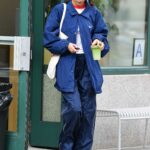 Bella Hadid in a Blue Nike Jacket Was Seen Out in New York