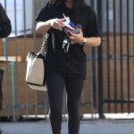 Suni Lee in a Black Tee Heads Into the DWTS Studio in Los Angeles