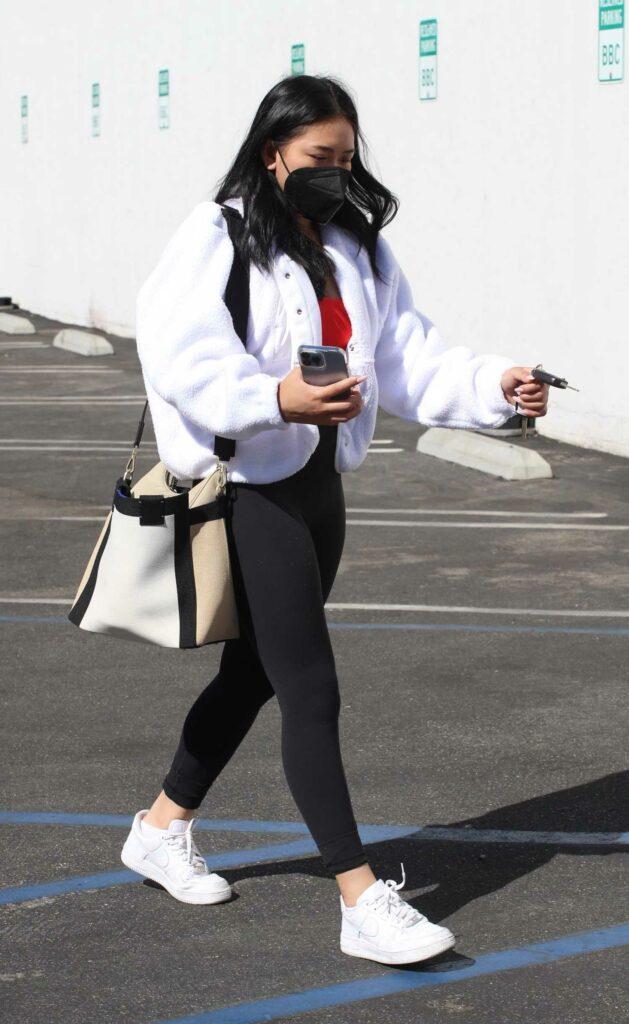Suni Lee in a White Jacket