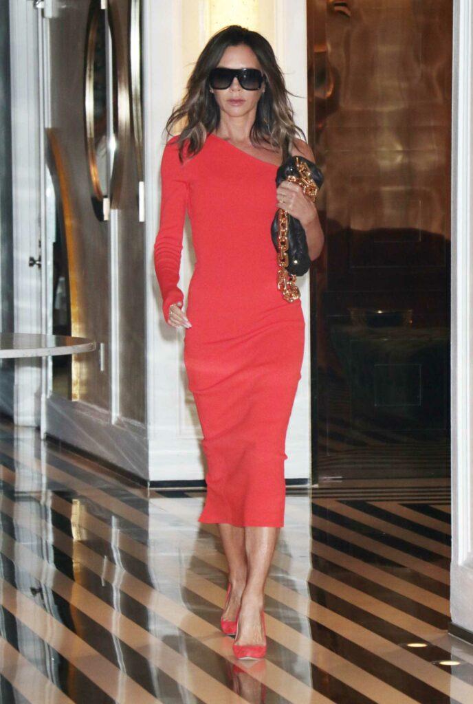 Victoria Beckham in a Red Dress