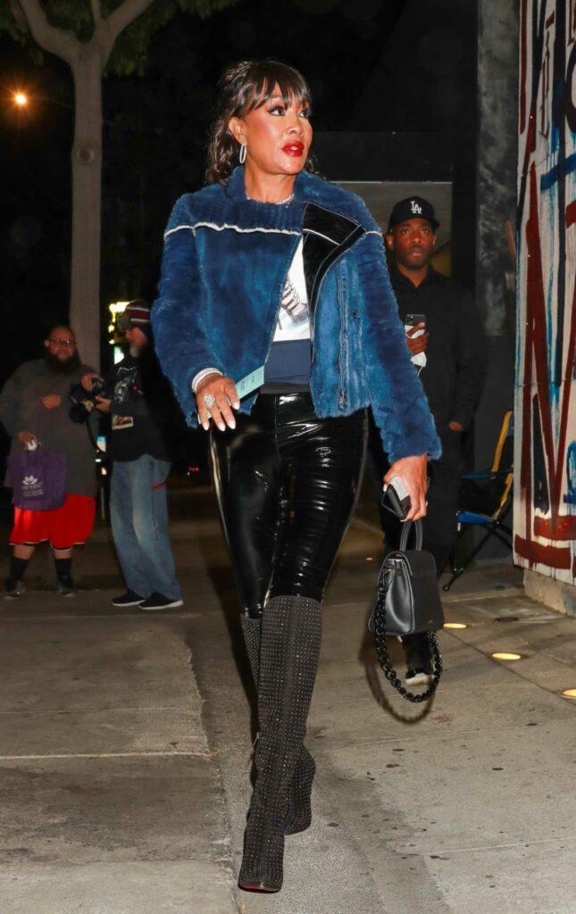 Vivica A. Fox in a Blue Jacket