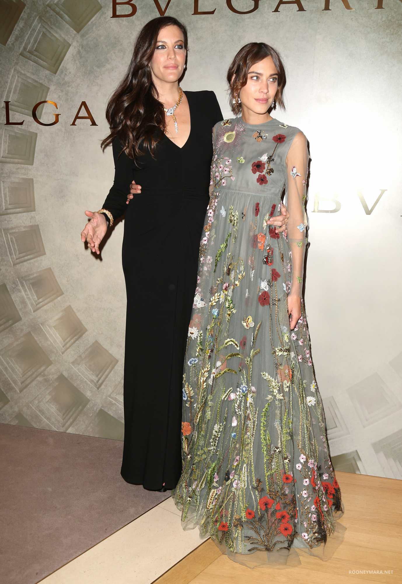 Alexa Chung and Liv Tyler at Alexa Chung and Liv Tyler at BVLGARI and ROME: Eternal Inspiration Opening Night-1