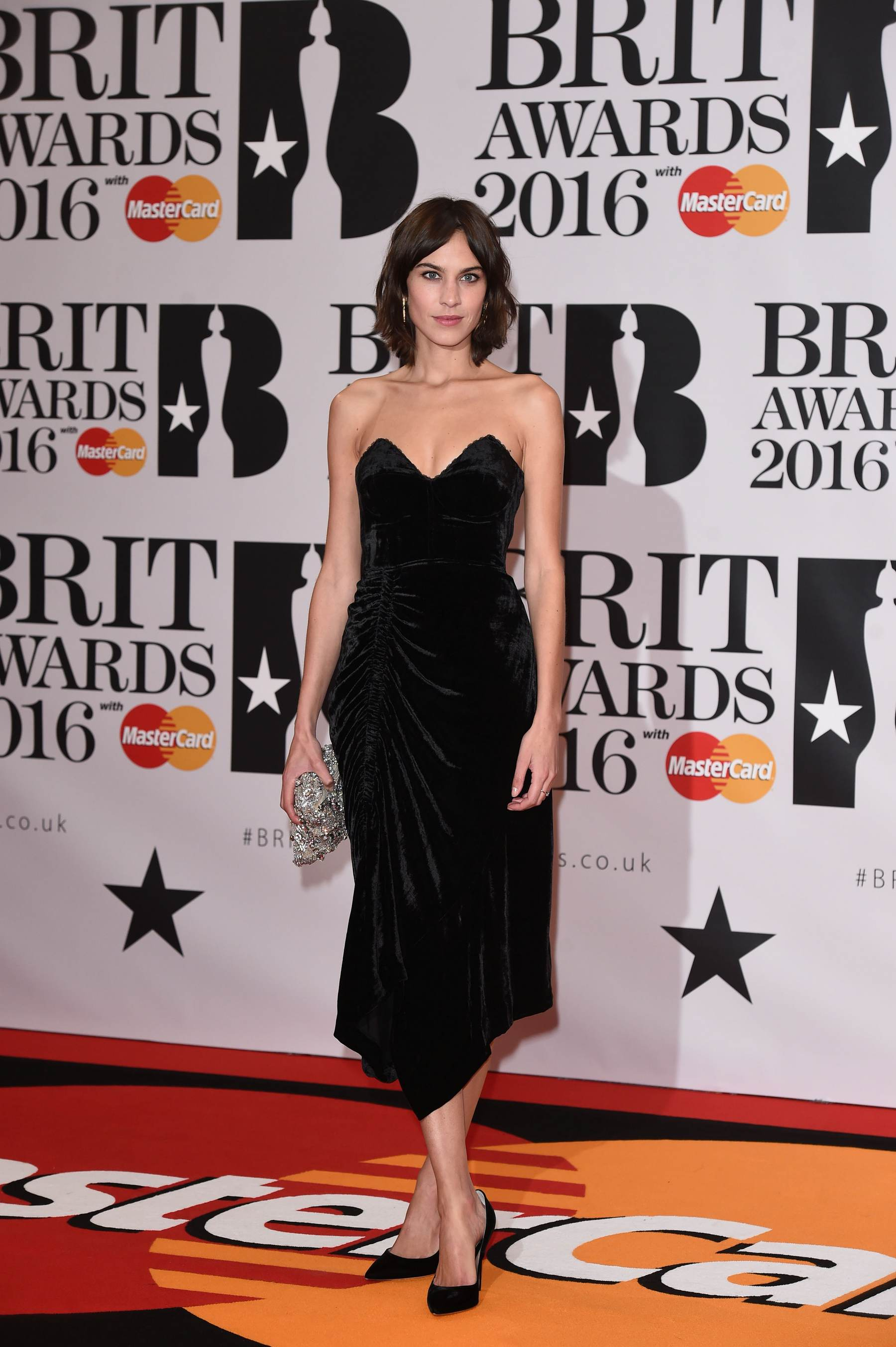 Alexa Chung arrives at Brit Awards-1