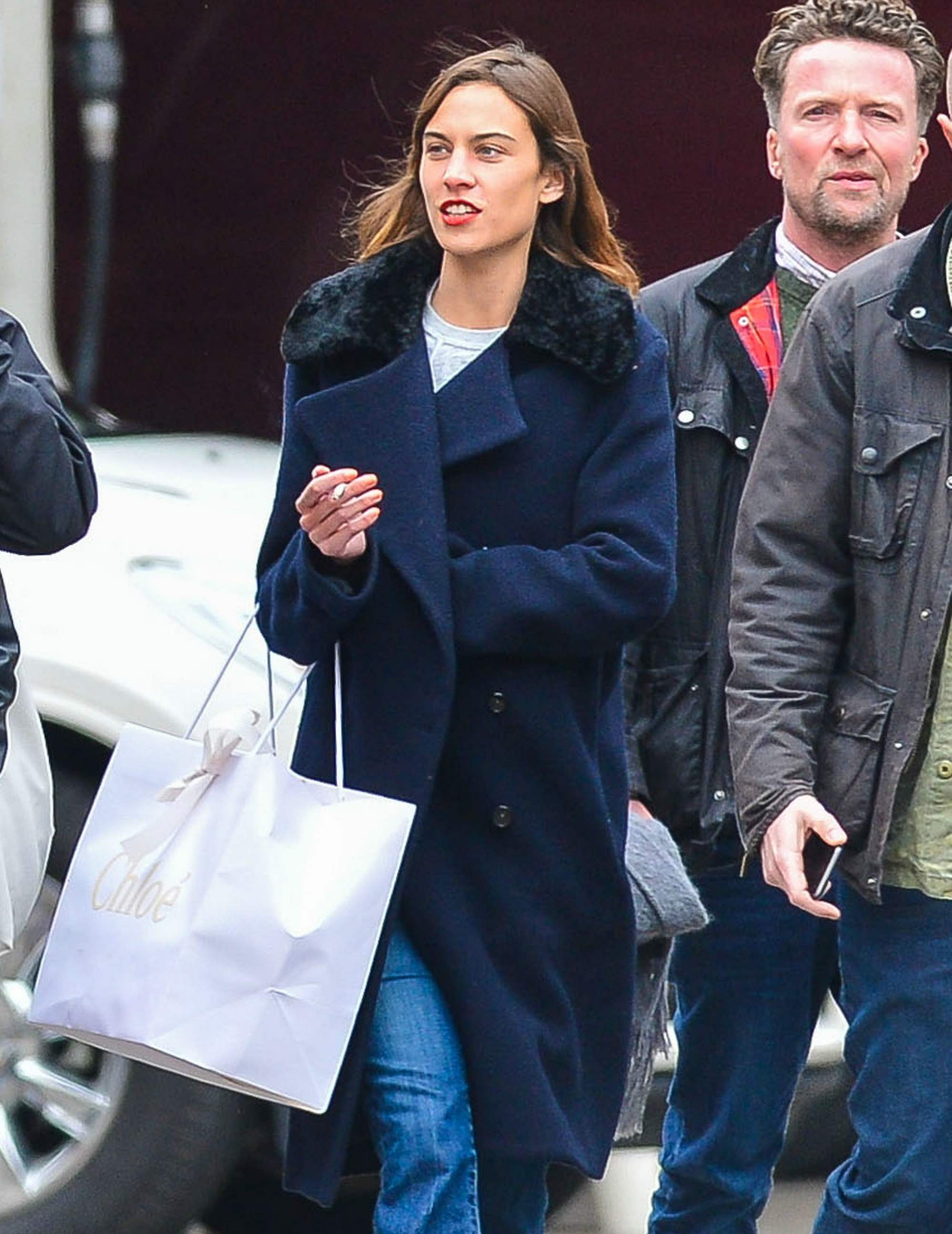 Alexa Chung Shopping With Friends in NYC-1