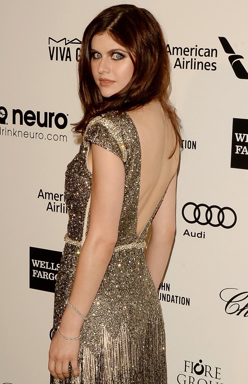 Alexandra Daddario arrives at Annual Elton John Party-2