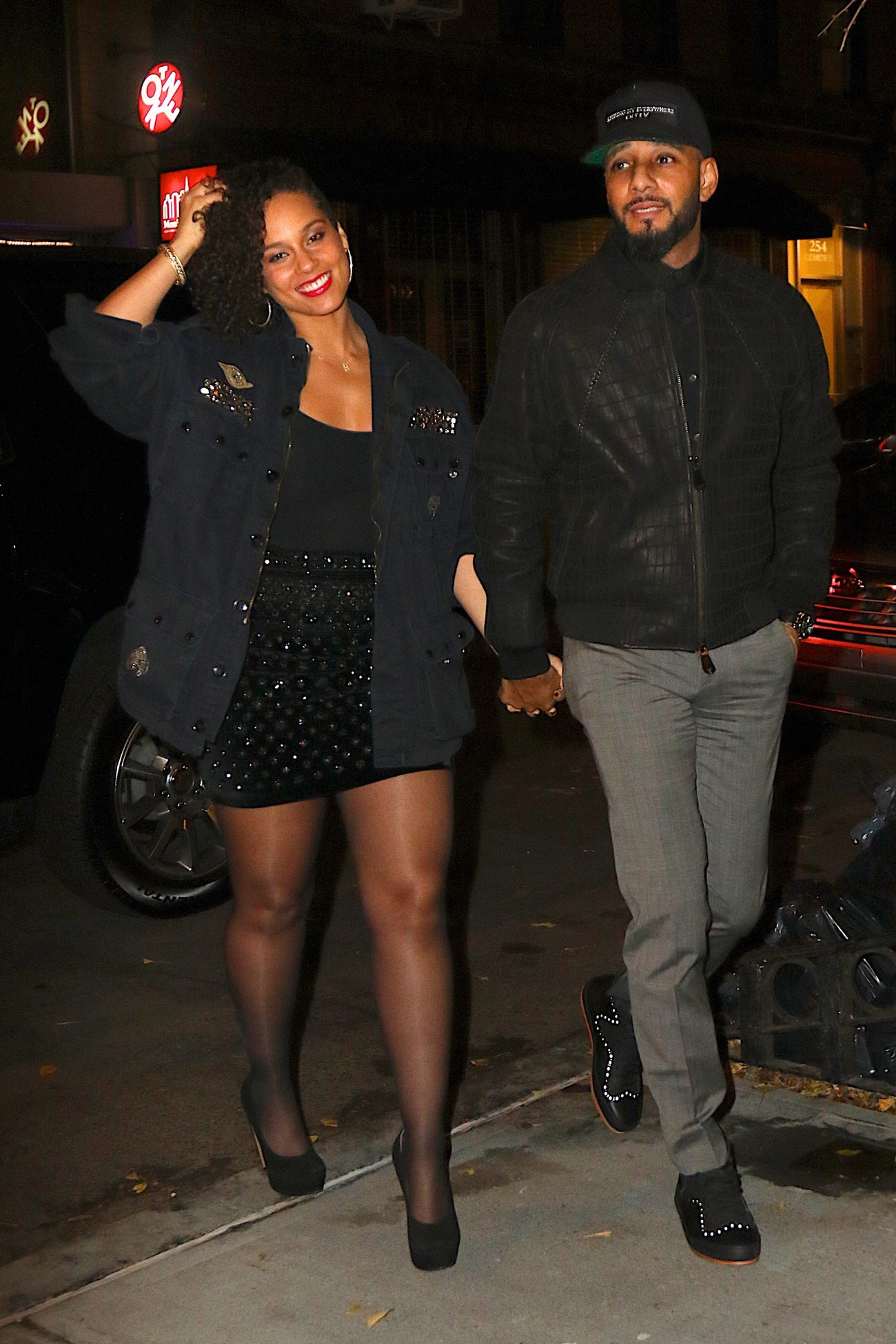 Alicia Keys and Swizz Beatz arrive to The Musket Room-1