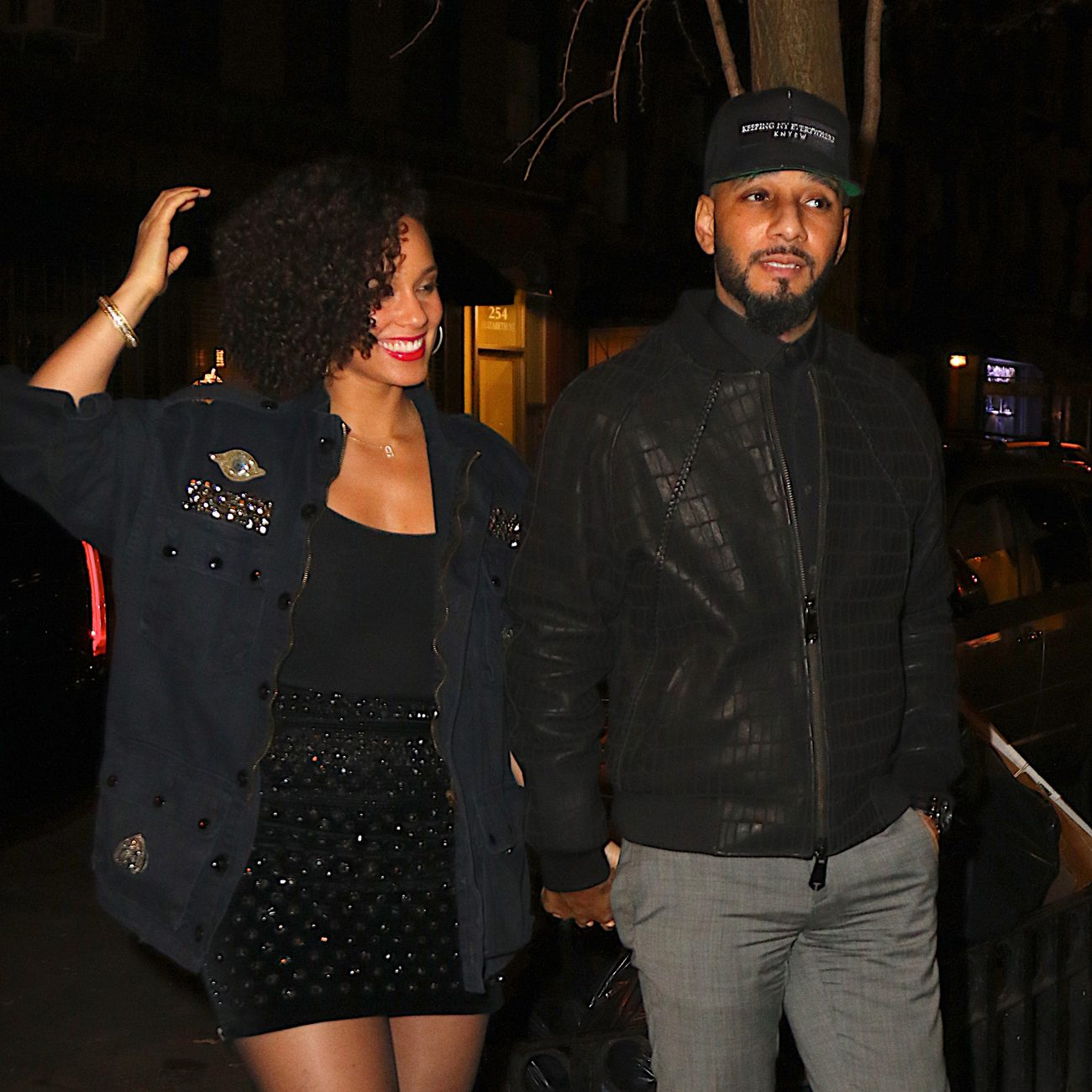 Alicia Keys and Swizz Beatz arrive to The Musket Room-4
