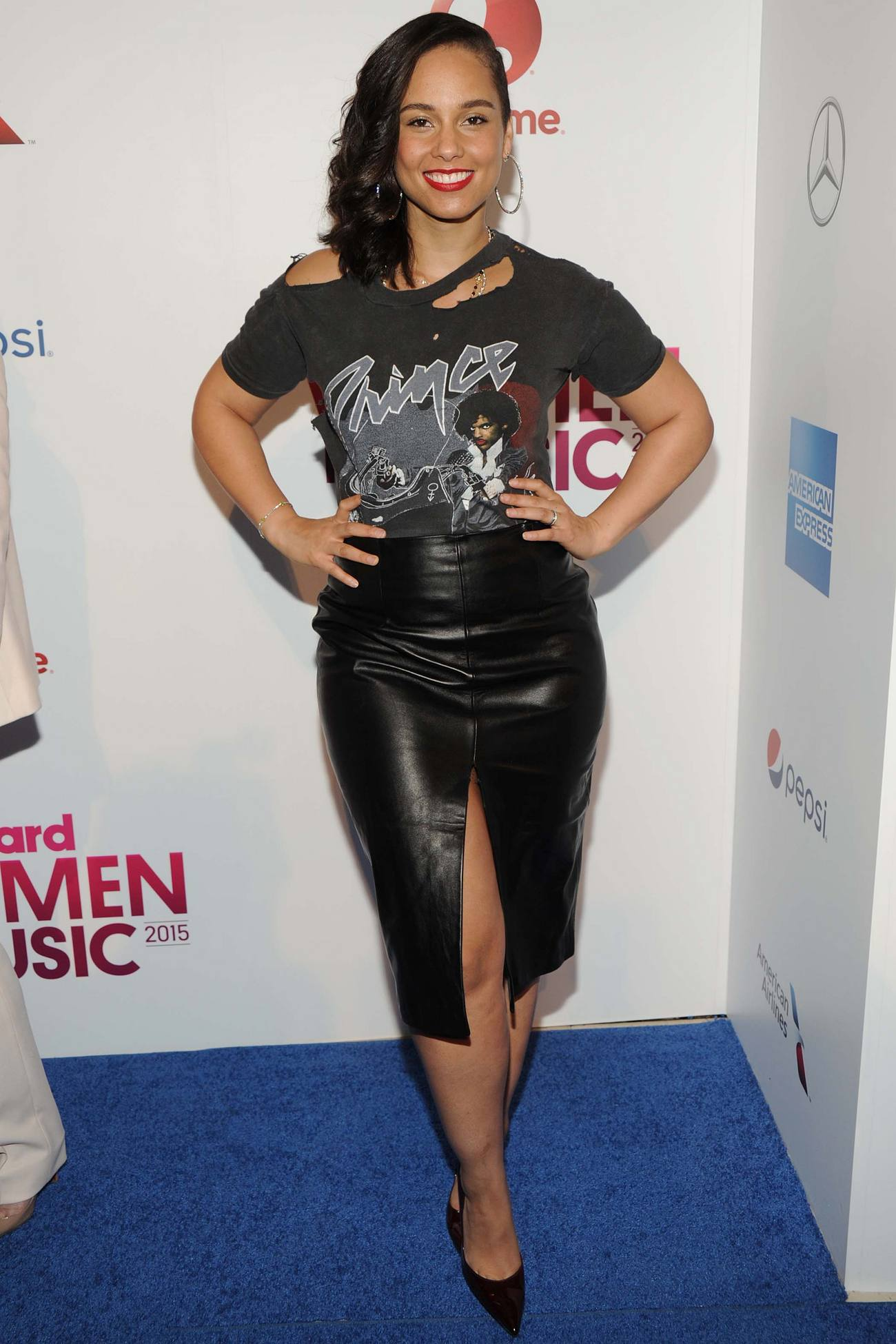 Alicia Keys arrives at Billboards Women in Music Event-2