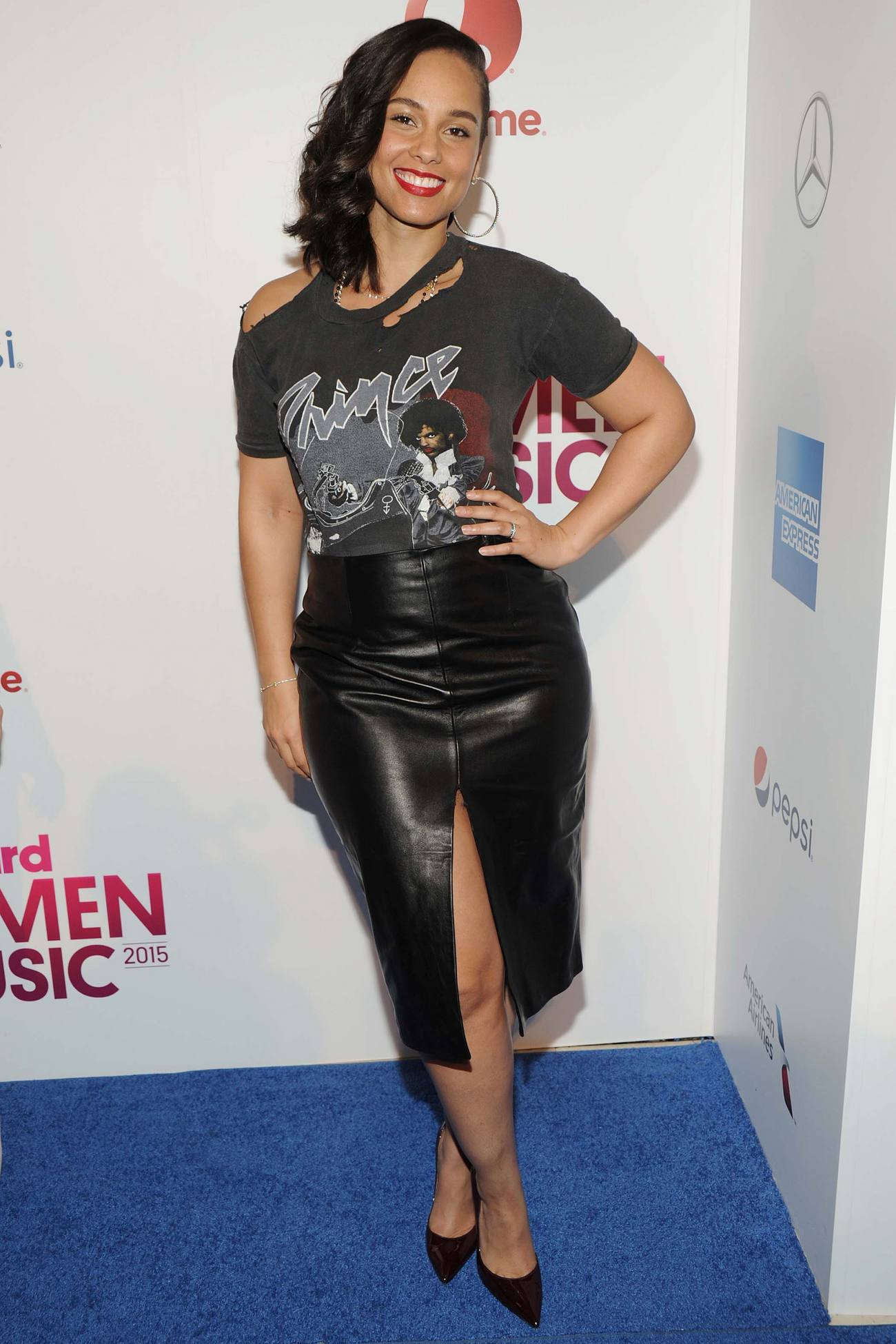 Alicia Keys arrives at Billboards Women in Music Event-3