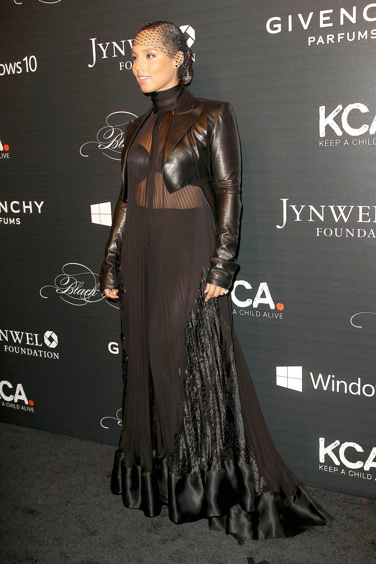 Alicia Keys Wears Sheer Outfit To Annual Black Ball-2