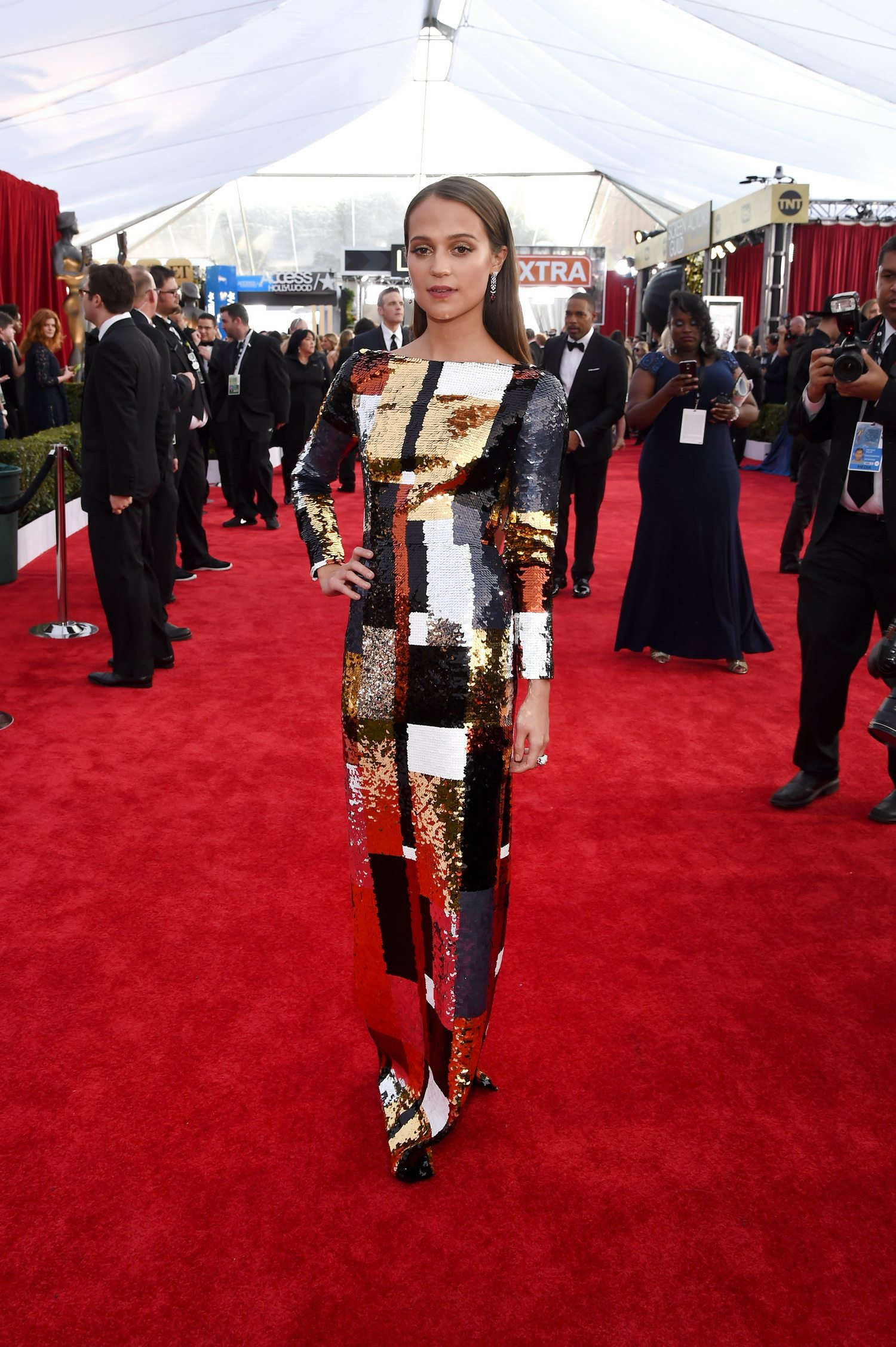 Alicia Vikander attendse Annual Screen Actors Guild Awards-1