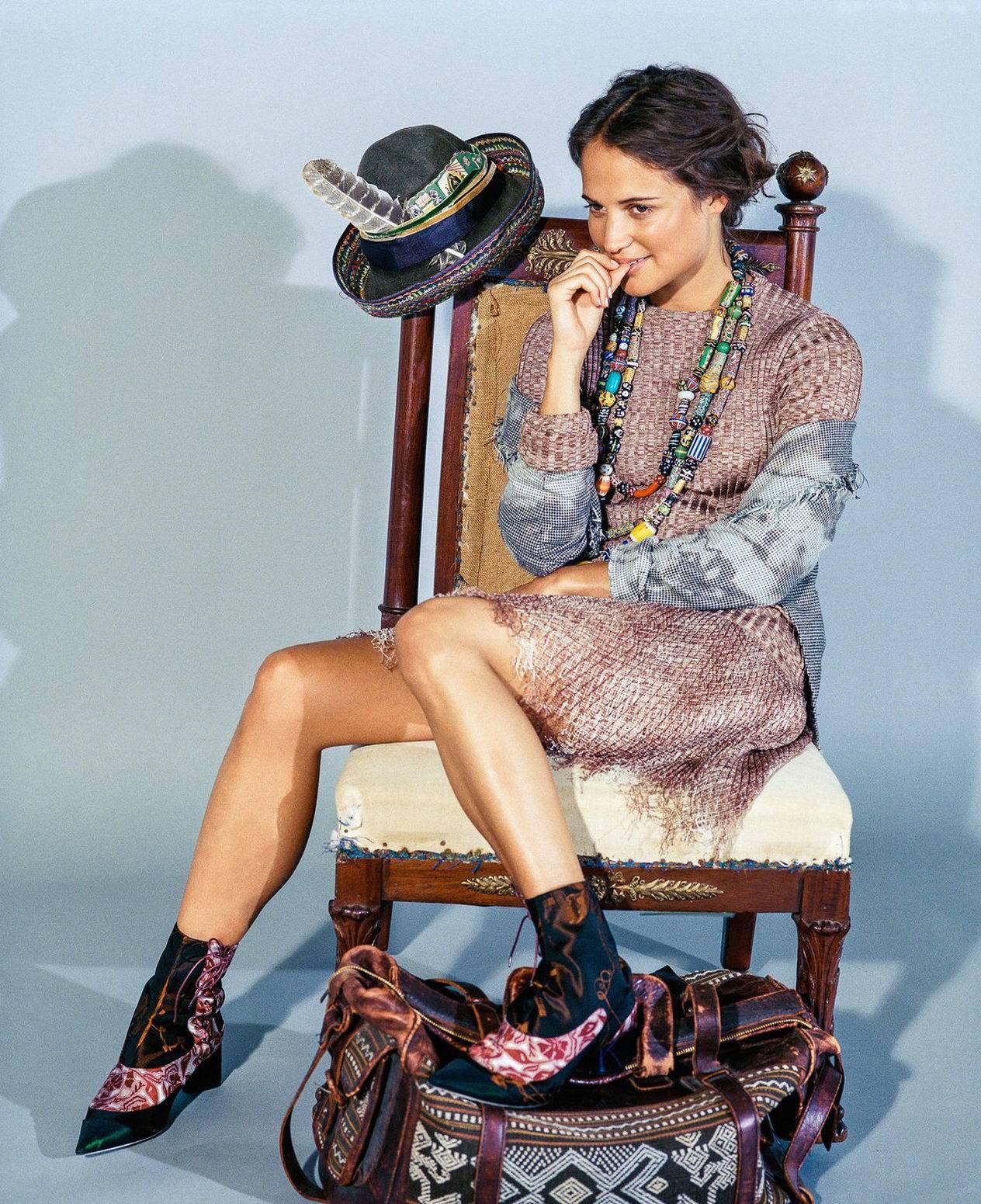 Alicia Vikander Poses for Dujour Magazine Photoshoots-1