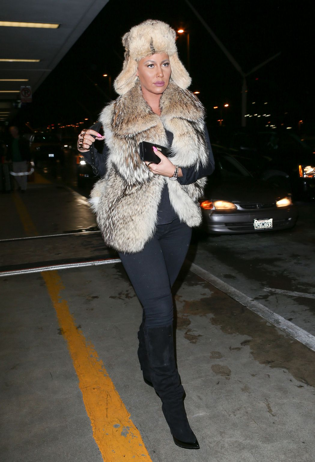 Amber Rose at LAX Airport