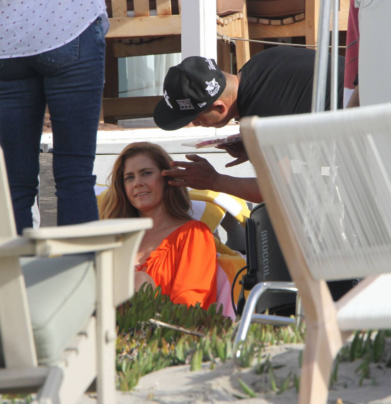 Amy Adams Films Photoshoots in Santa Monica-1