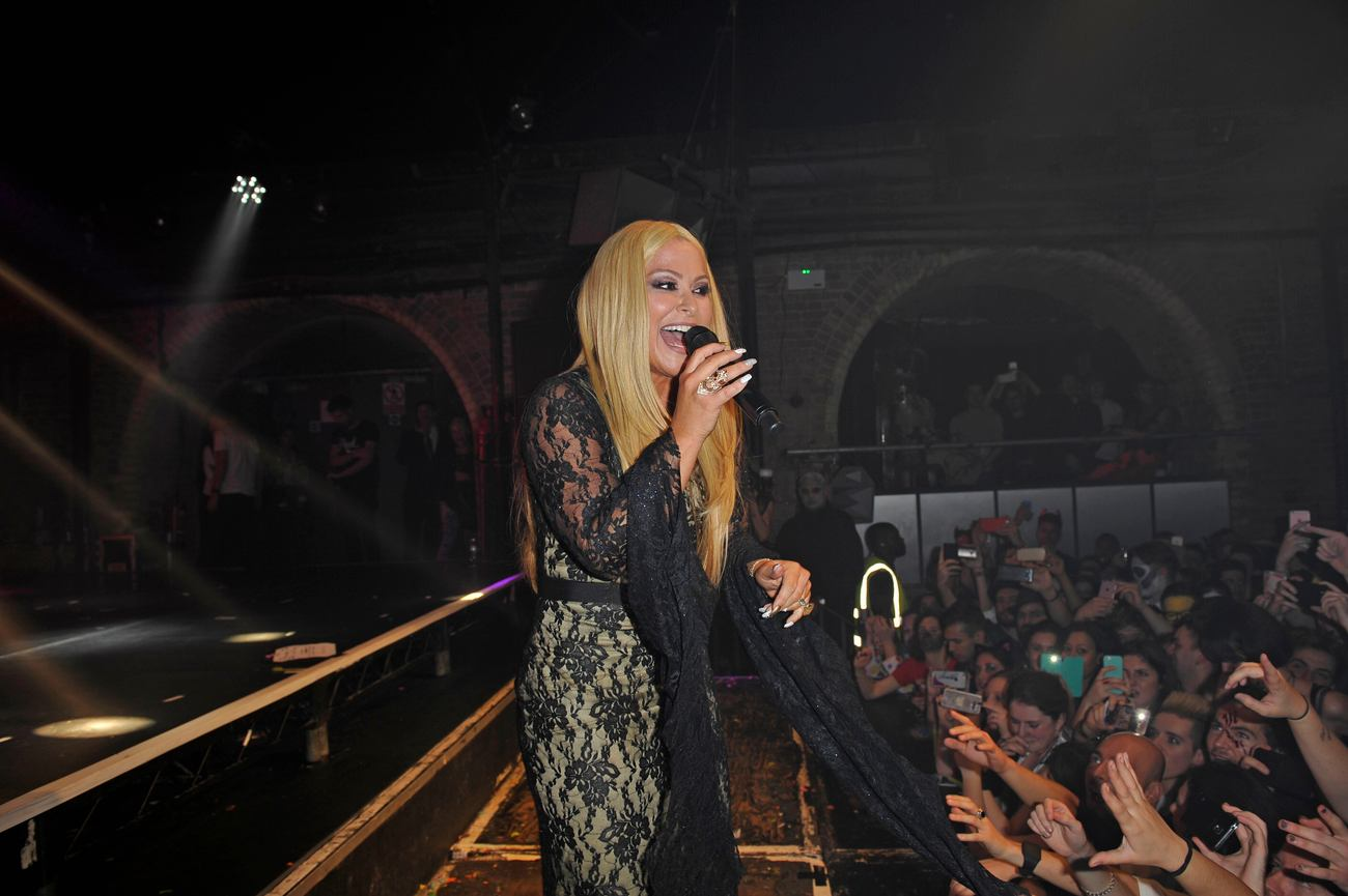 Anastacia performing at G-A-Y at Heaven Night Club on Halloween Day!-3