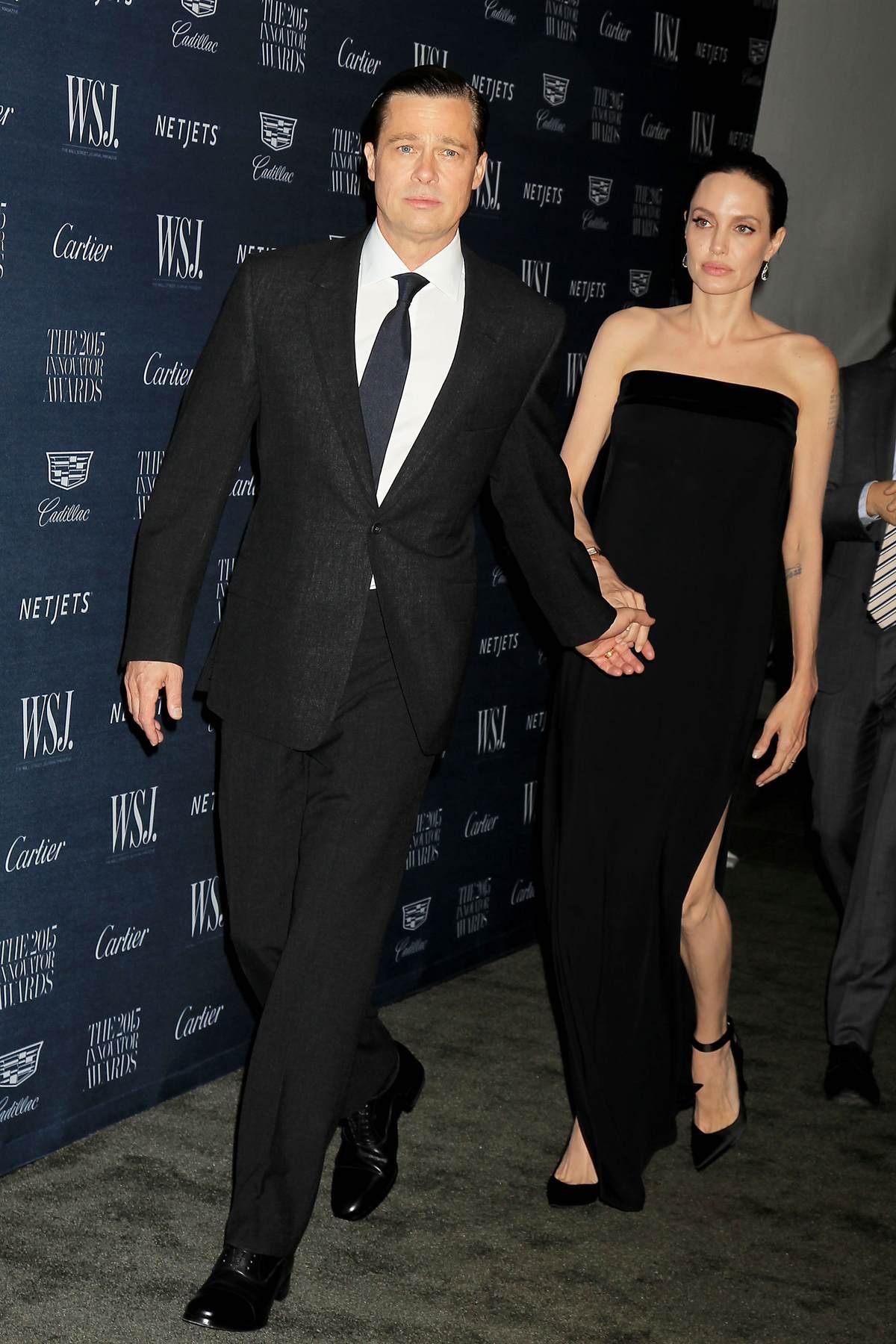 Angelina Jolie and Brad Pitt at WSJ Magazine Hosts The Innovator Awards-1