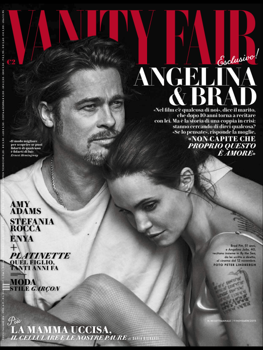 Angelina Jolie and Brad Pitt Couple Cover for Vanity Fair Magazine-1