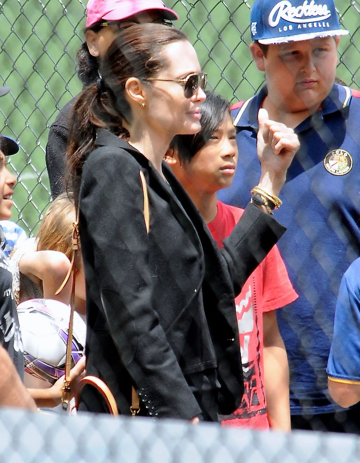 Angelina Jolie and Her Kids in Los Angeles-2