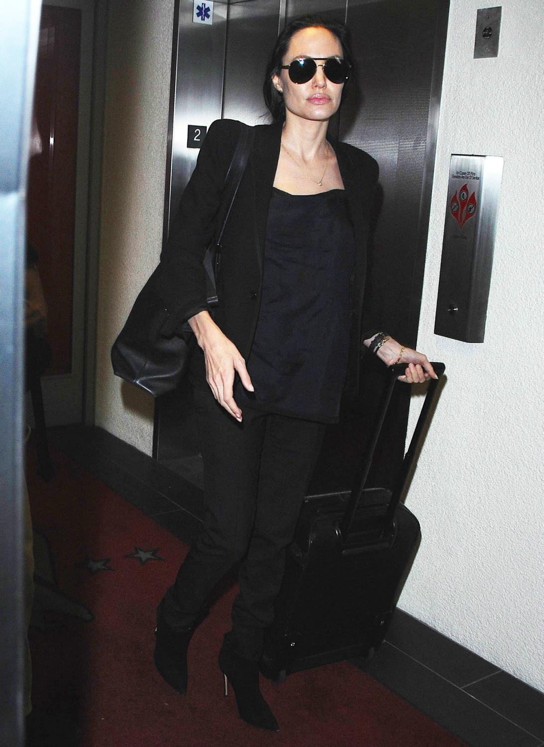 Angelina Jolie and her son Maddox Arrive at LAX Airport-2