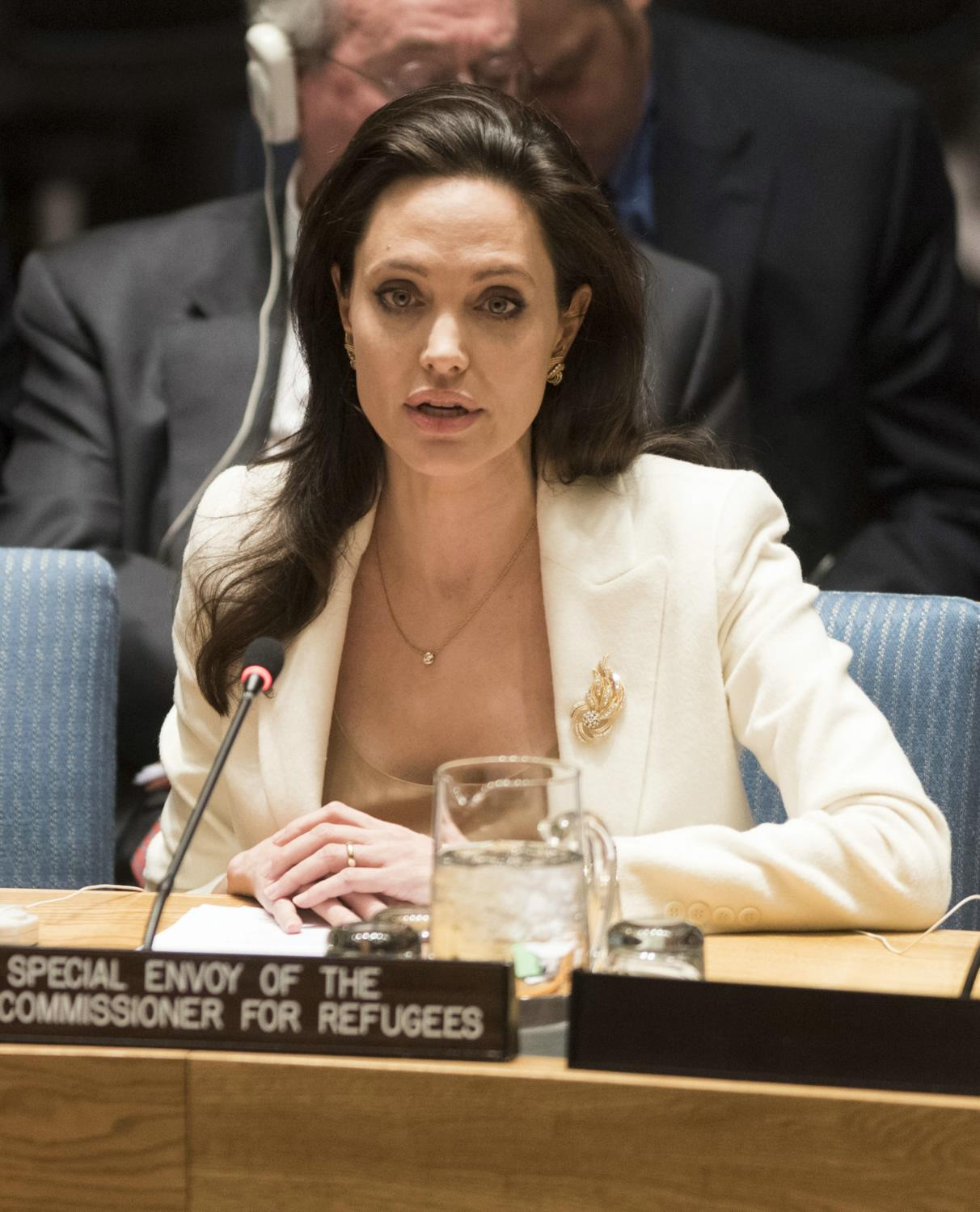 Angelina Jolie attends a United Nations Security Council Meeting-1
