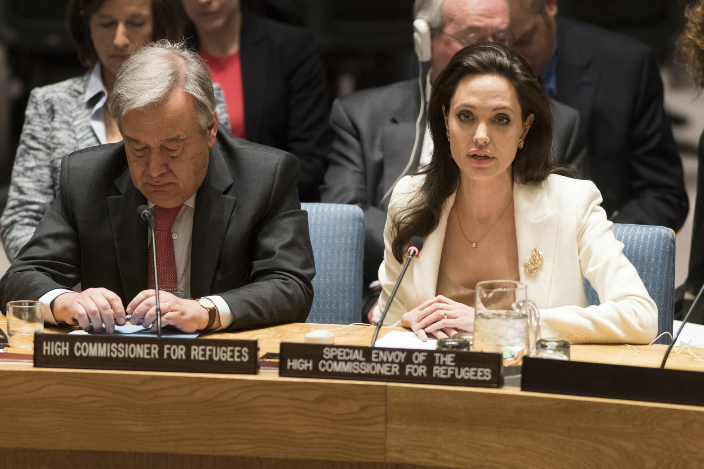 Angelina Jolie attends a United Nations Security Council Meeting-2