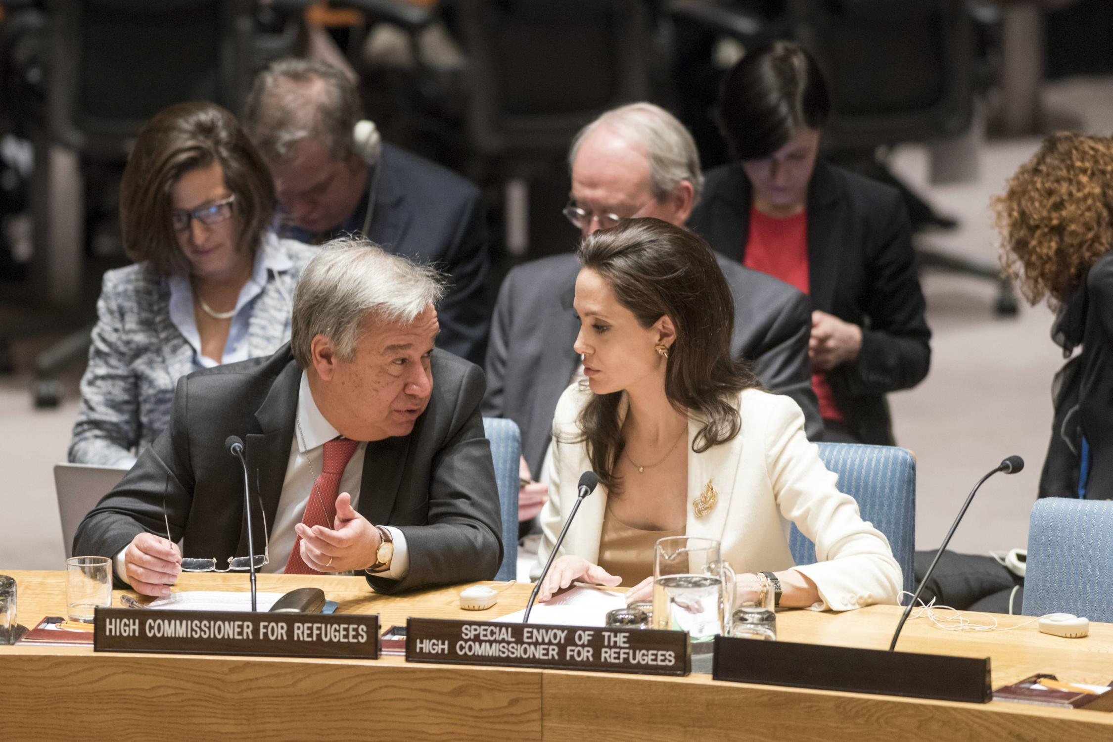 Angelina Jolie attends a United Nations Security Council Meeting-3