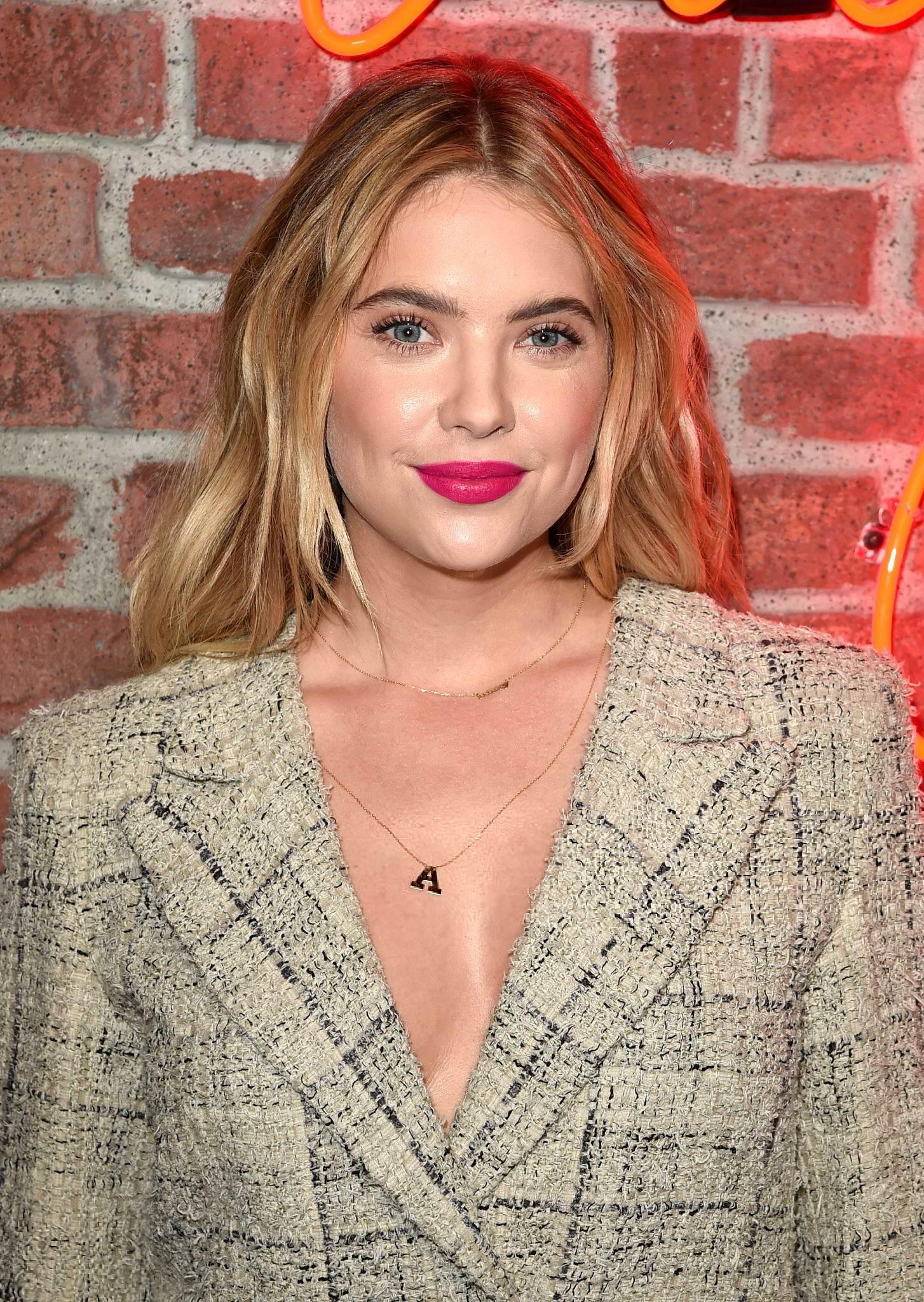 Ashley Benson arrives at Chanels I Love Coco Backstage Beauty Lounge-1