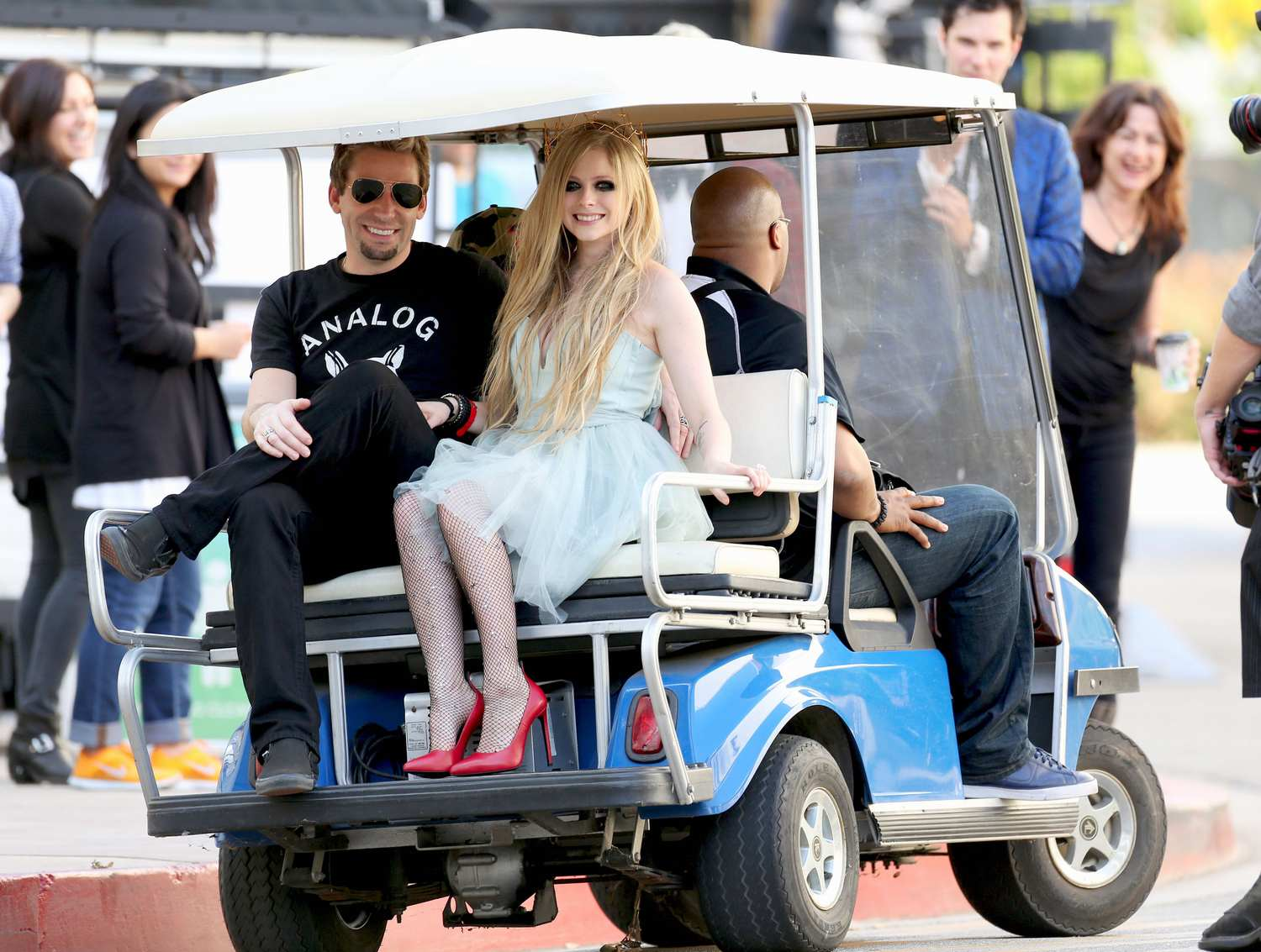 Avril Lavigne Accompanied With Chad Kroeger Film New Music Video in Los Angeles-4