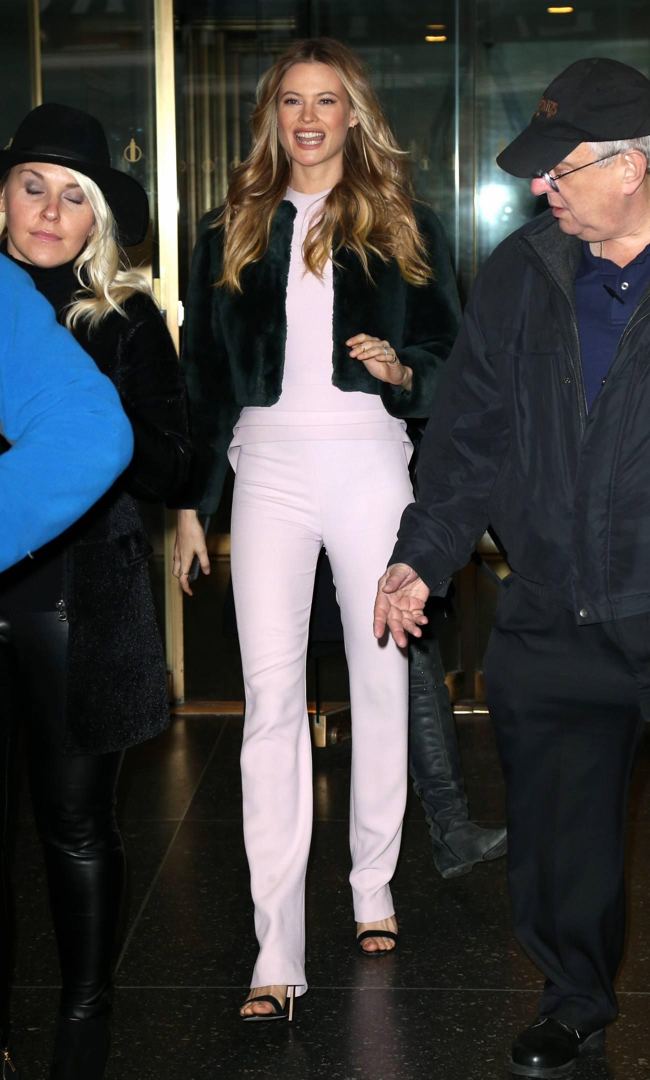 Behati Prinsloo and Taylor Hill Leaving AOL in NYC-1