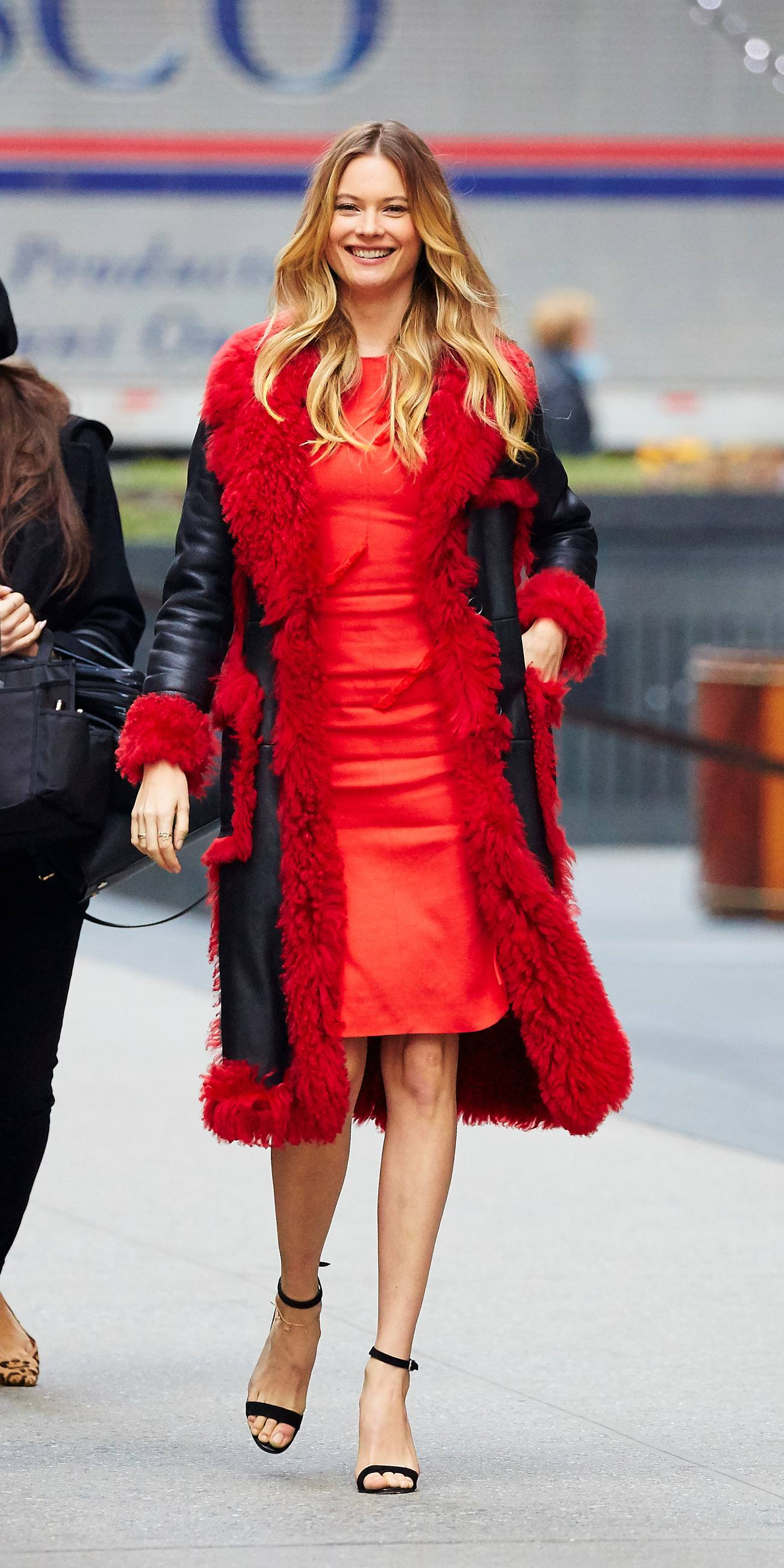 Behati Prinsloo Red Beauty in NYC-1