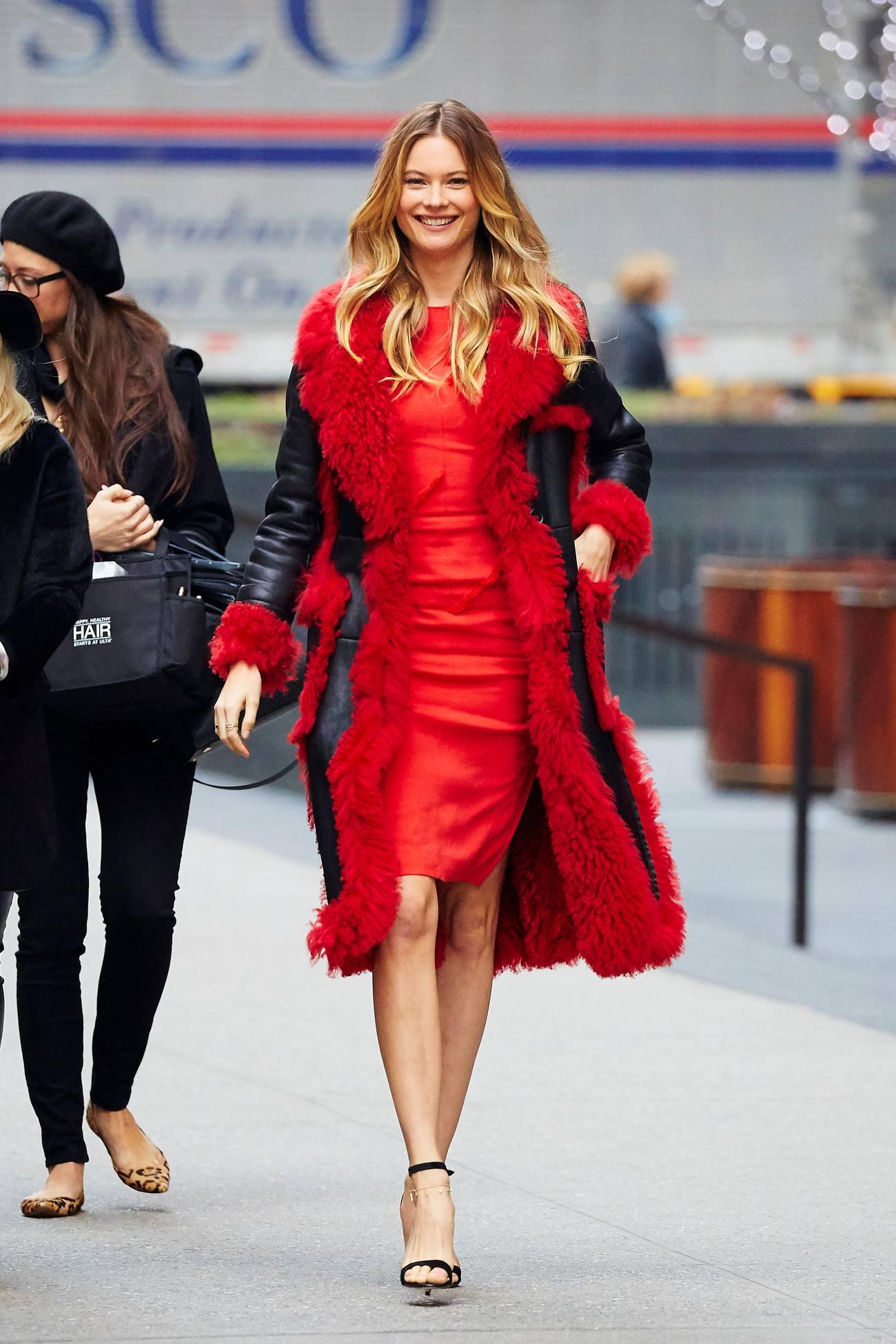 Behati Prinsloo Red Beauty in NYC-2