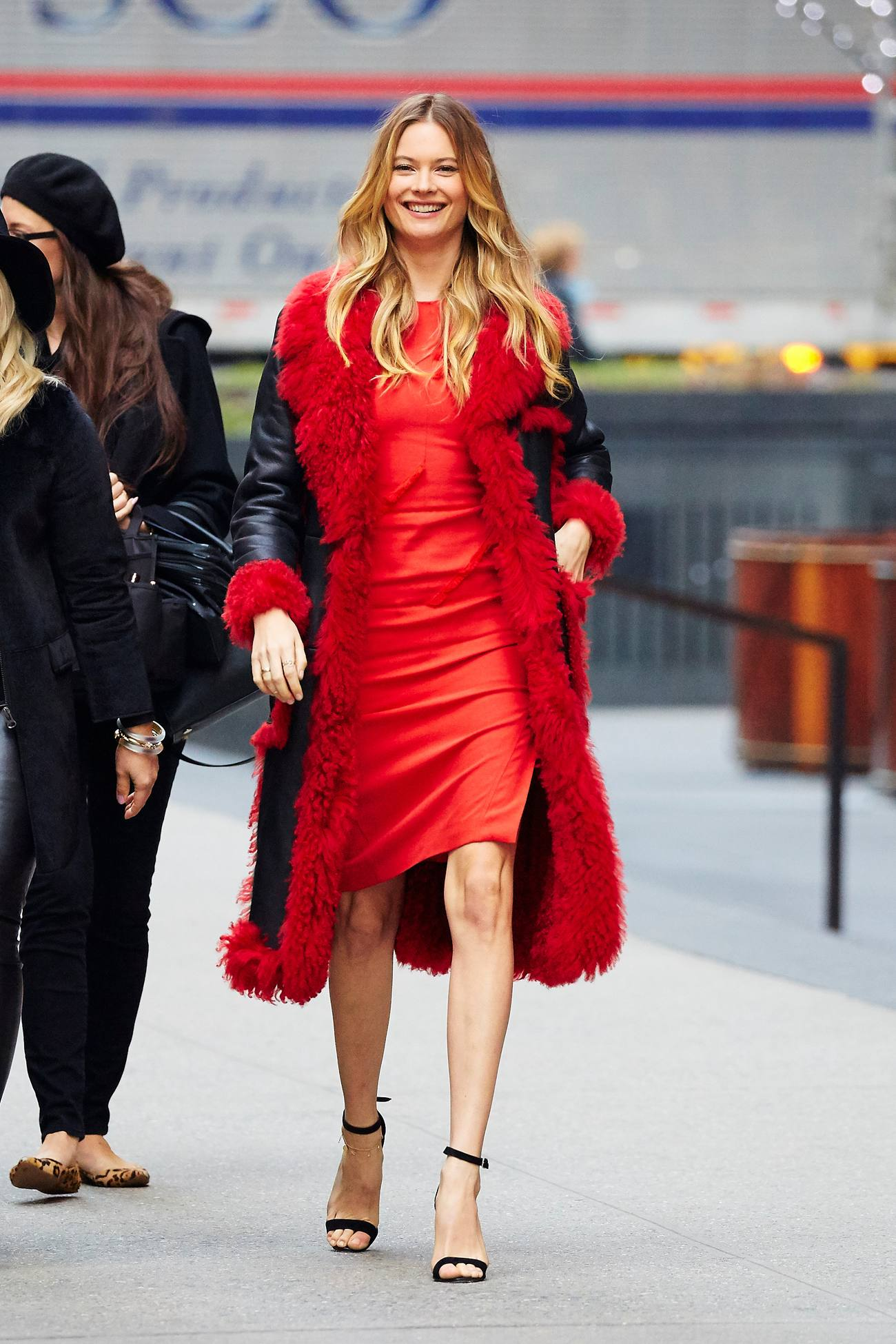 Behati Prinsloo Red Beauty in NYC-3