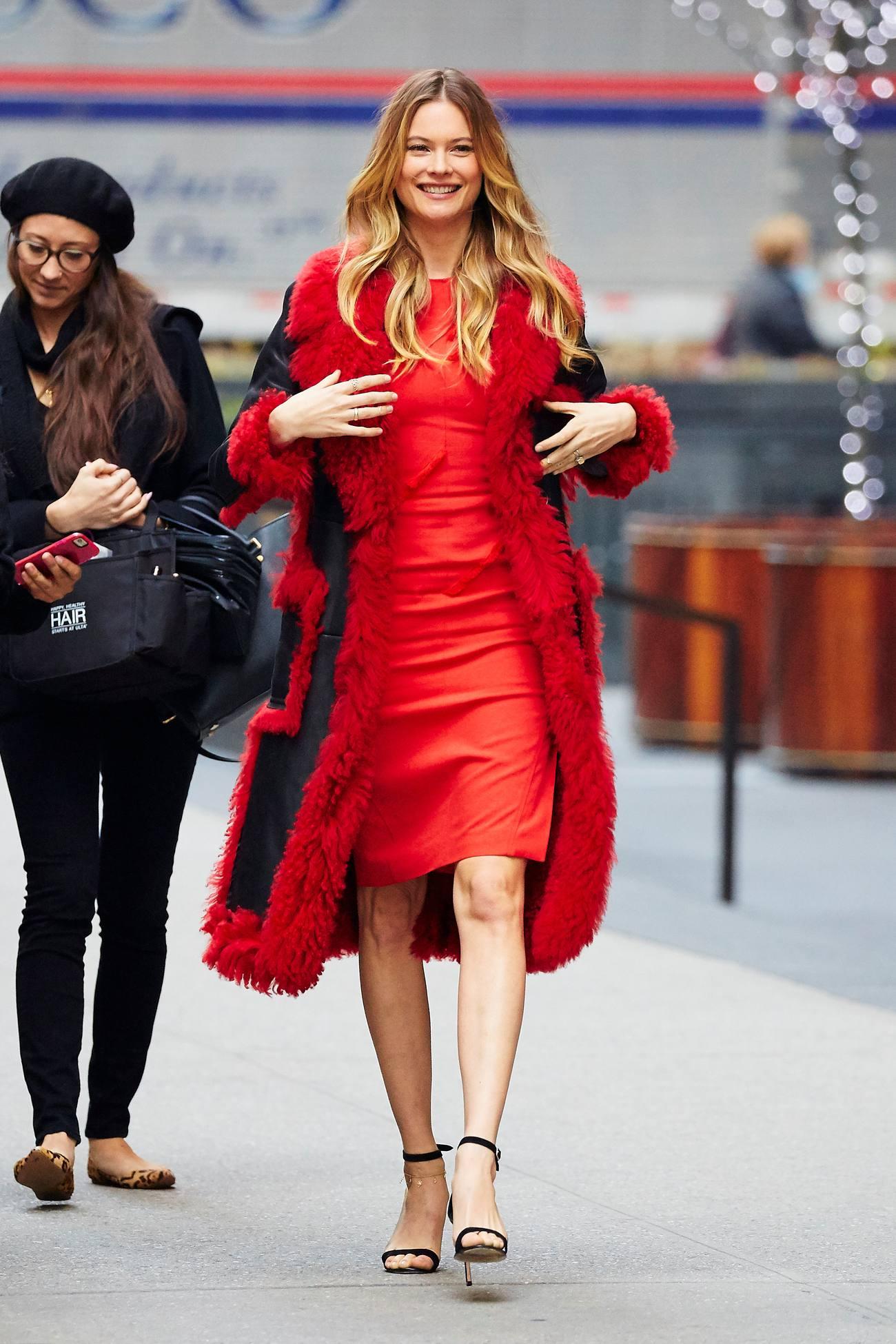 Behati Prinsloo Red Beauty in NYC-4