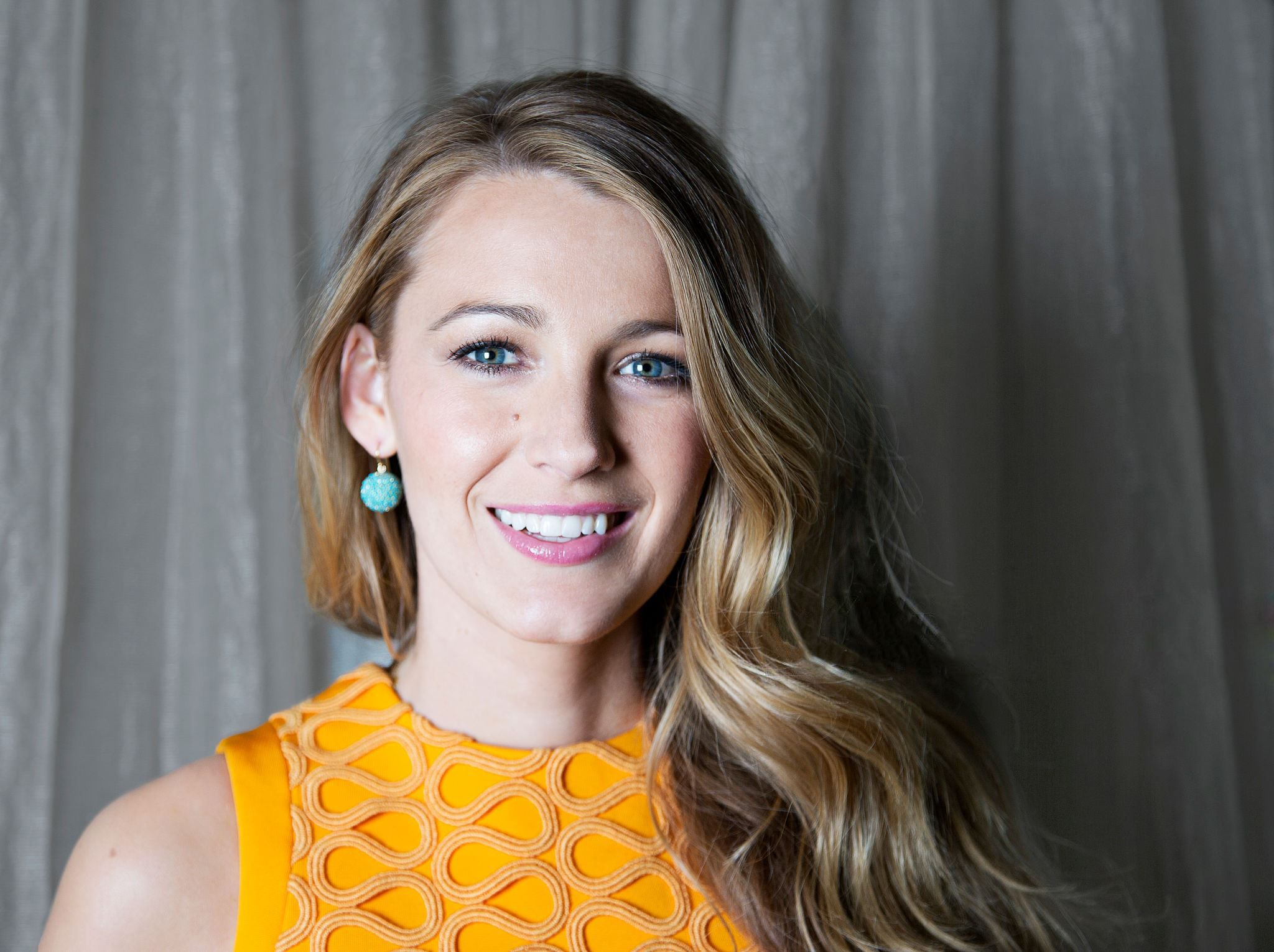 blake lively at ryan reynolds honored with star on the hollywood walk