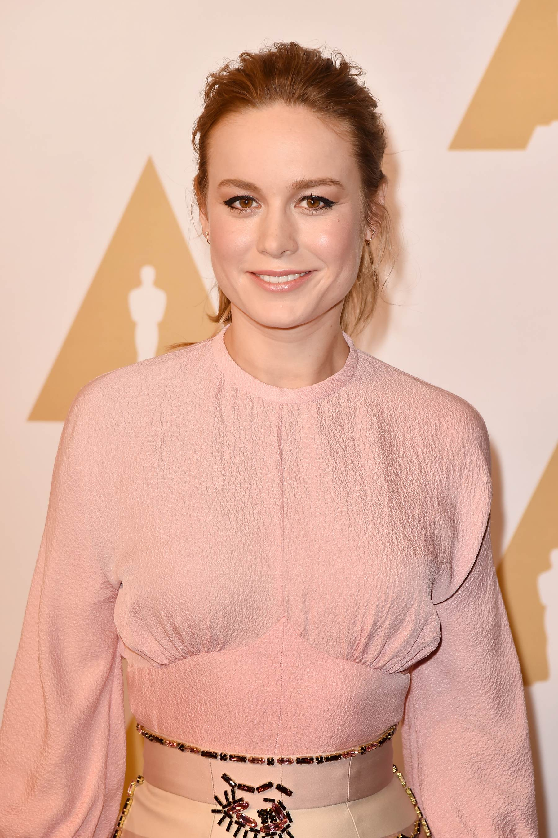 Brie Larson arrives at Annual Academy Awards Nominee Luncheon-1